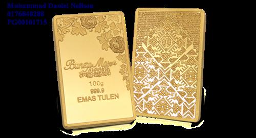 Public Gold BungaMas Series Bar 100g (Au 999.9)