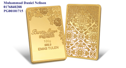 Public Gold BungaMas Series Bar 100g (Au 999.9)