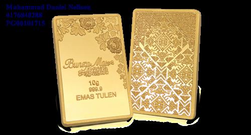 Public Gold BungaMas Series Bar 10g (Au 999.9)