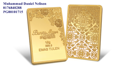 Public Gold BungaMas Series Bar 10g (Au 999.9)
