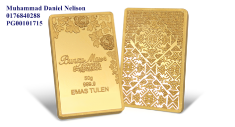 Public Gold BungaMas Series Bar 50g (Au 999.9)