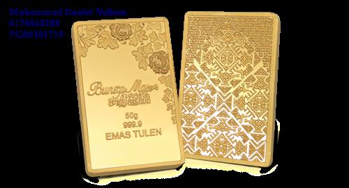 Public Gold BungaMas Series Bar 50g (Au 999.9)