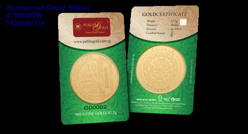 Public Gold LBMA 10 Dinar 42.5g (Au 999.9)