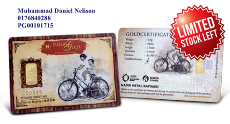 Public Gold LBMA Bullion Bar 0.5g (Au 999.9) – Bicycle