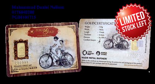Public Gold LBMA Bullion Bar 0.5g (Au 999.9) – Bicycle