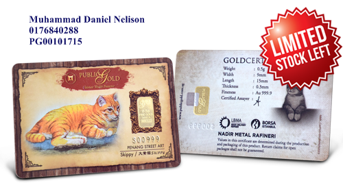 Public Gold LBMA Bullion Bar 0.5g (Au 999.9) – Cat