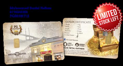Public Gold LBMA Bullion Bar 0.5g (Au 999.9) – Museum