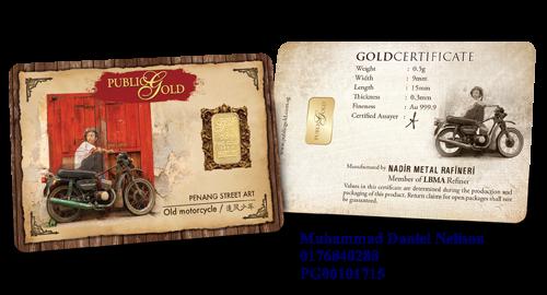 Public Gold LBMA Bullion Bar 0.5g (Au 999.9) - Motorcycle