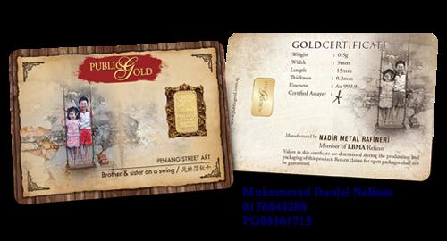 Public Gold LBMA Bullion Bar 0.5g (Au 999.9) - Swing