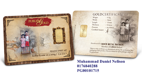 Public Gold LBMA Bullion Bar 0.5g (Au 999.9) - Swing