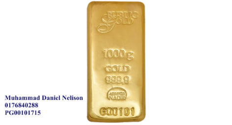 Public Gold LBMA Bullion Bar 1000g (Au 999.9)
