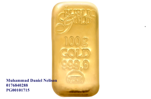 Public Gold LBMA Bullion Bar 100g (Au 999.9) - CAST BAR