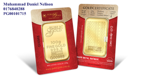 Public Gold LBMA Bullion Bar 100g (Au 999.9)