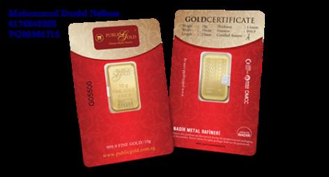 Public Gold LBMA Bullion Bar 10g (Au 999.9)