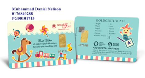 Public Gold LBMA Bullion Bar 1g (Au 999.9) - Baby