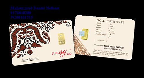 Public Gold LBMA Bullion Bar 1g (Au 999.9) - Batik Kraton