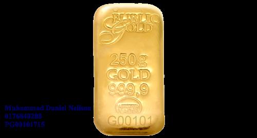 Public Gold LBMA Bullion Bar 250g (Au 999.9)
