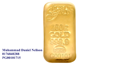 Public Gold LBMA Bullion Bar 250g (Au 999.9)