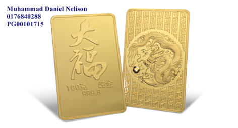 Public Gold Tai Fook Series Bar 100g (Au 999.9)