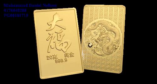 Public Gold Tai Fook Series Bar 20g (Au 999.9)