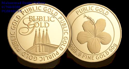 Public Gold Wafer 50g (Au 999.9)