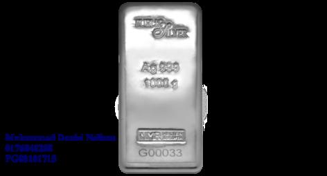 Public Silver LBMA Bullion Bar 1kg (Ag 999)