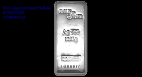 Public Silver LBMA Bullion Bar 250g (Ag 999)