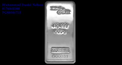 Public Silver LBMA Bullion Bar 500g (Ag 999)