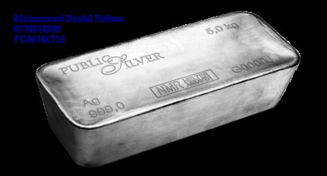 Public Silver LBMA Bullion Bar 5kg (Ag 999)